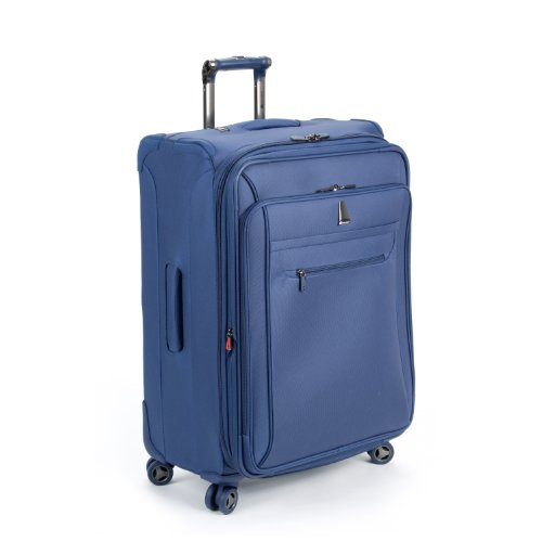 Delsey Luggage Helium X'pert Lite Ultra Light 4 Wheel Suiter Upright, Blue, 25 Inch best deal