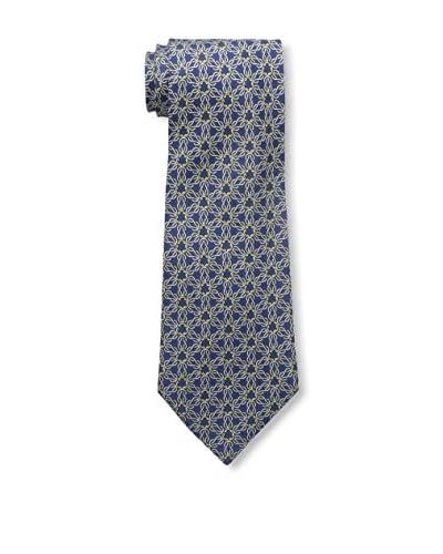 Hermès Men's Patterned Silk Tie, Blue