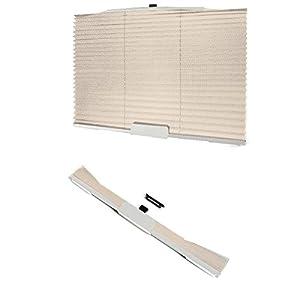 XFAY Folding Car Retractable Side Window Sun Shade / Sunblinds Curtain Roller Blind Sunshade ( Beige)