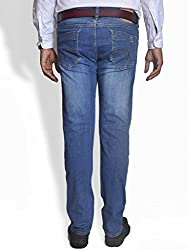 Scorzio Men's Regular Fit Jeans (SZ0001_2_Blue_32)