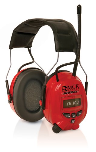 MCR Safety C7007MP3 Safewaves Noise Cancellation Hearing Protector with Digital AM/FM Stereo Radio, Rating 25dB