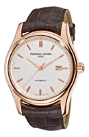Frederique Constant Men's FC-303V6B4 Clear Vision Rosetone Case Brown Strap Watch by Frederique Constant