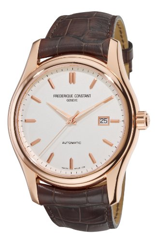 Frederique Constant Men's FC-303V6B4 Clear Vision Rosetone Case Brown Strap Watch