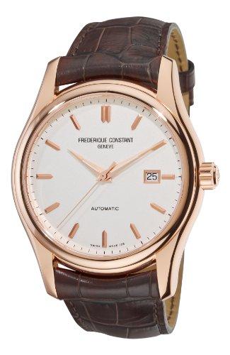 Frederique Constant Men's FC-303V6B4 Clear Vision Rosetone Case Brown Strap Watch