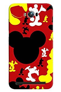 Blue Throat Micky Face Inspired Pattern Hard Plastic Printed Back Cover/Case For Asus Zenfone Max