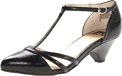 BC Footwear Women's Cool As A Cucumber T-Strap Pump,Black Crackle,8 M US