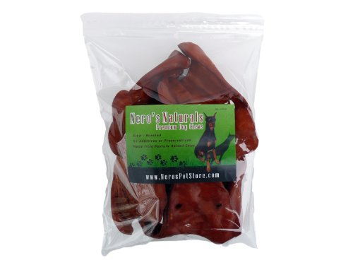Funchew BBQ Basted Cow Ears Chews For Dogs