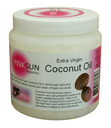 PINK SUN Pure Extra Virgin Coconut Oil 285 ml - Certified Organic by the Soil Association