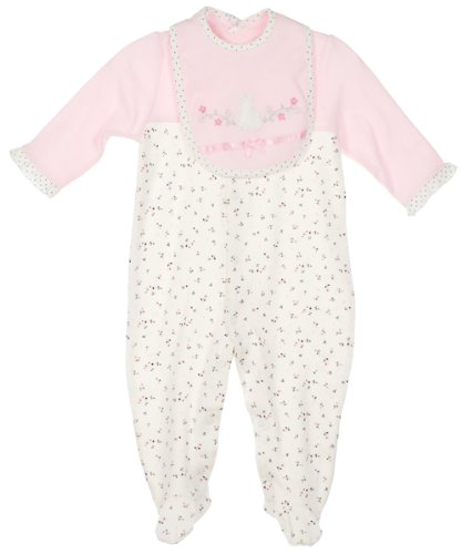 Rene Rofe Baby-girls Newborn Sitting Pretty Snuggle and Play Set, Crème/Pink, Medium