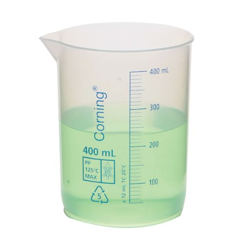 Corning 1000P-5L Polypropylene Reusable Graduated Low Form Beaker, 5000ml Capacity, 500ml Graduation Interval (Case of 4) (Corning 5l compare prices)