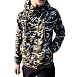 ミリタリージャケット コート 迷彩 長袖 (2色) (M・L・XLサイズ) (M, アーミーグリーン)