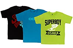 Pokizo 100% Cotton Round Neck T Shirt - Pack Of 3
