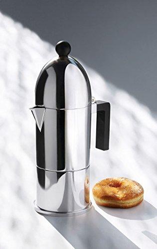 La Cupola Espresso Maker by Aldo Rossi Size: 6 cup, Handle Color: Black, Finish: Aluminum