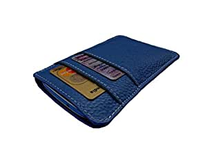 ATV Genuine Leather ROYAL BLUE Designer pouch Case Cover For Gionee Pioneer P3S