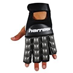 Buy Harrow Field Hockey Glove, Medium, Grey Black by Harrow