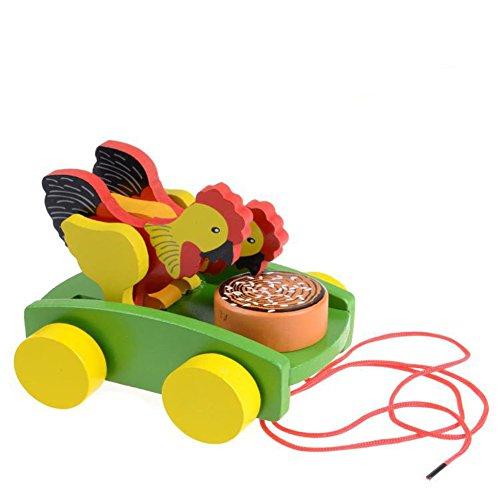 AxiEr-Children-Wooden-Rooster-Pull-Carts-Preschool-Toddler-Toy
