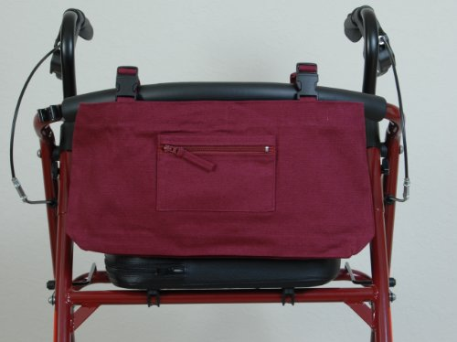 Granny Jo Products 1204 Wheelchair/Walker/Scooter Bag, Burgundy