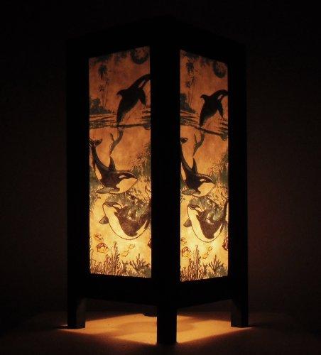 Seltene-Asiatische-Orientalisch-Vintage-Mbel-Thai-handgefertigt-Buddha-Stil-Lampe-Nachttische-Orca-Wal-Meer-Zuhause-Schlafzimmer-Dekor-Wohnkultur-In-Thailand