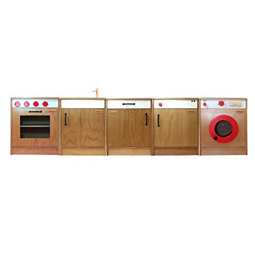 Obique giocattoli in legno per bambini set 5 unità da cucina ...