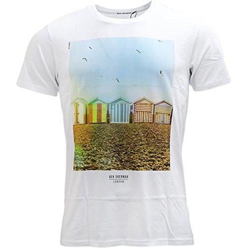 Ben Sherman -  T-shirt - Uomo bianco Large