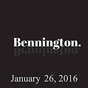 Bennington, January 26, 2016 Radio/TV Program
