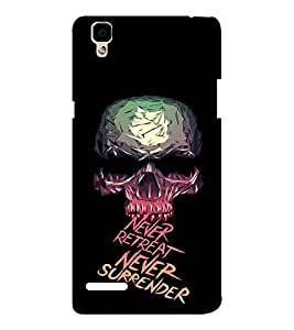 EPICCASE Never retreat Mobile Back Case Cover For Oppo F1 (Designer Case)