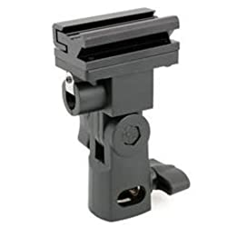 JJC Universal Swivel Hot Shoe Flash Holder for Light Stand with Umbrella Lock