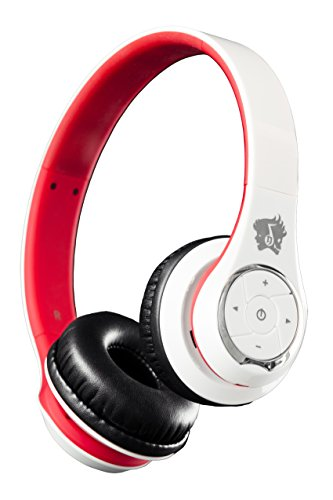 Life N Soul Bn301-Wr Bluetooth Headphones White & Red