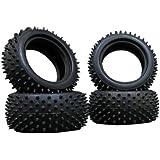 4x Buggy Reifen + 4x Einlagen 1:10 Seben R2
