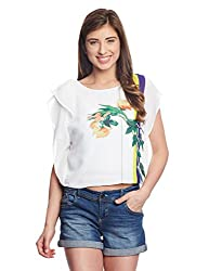 Madame Women's Body Blouse Top (M1518557_Off-White_Large)