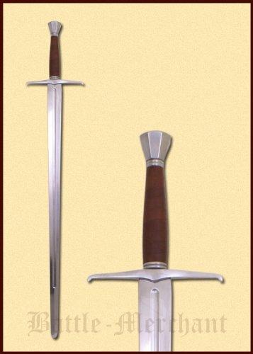 Anderthalbhänder Schaukampfschwert der Extraklasse aus gehärtetem Federstahl! 111cm 1600g Schwert Mittelalter