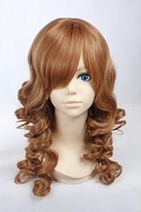 Lolita perruque Anime Cosplay perruque Brown longue perruque bouclšŠe ršŠsistant š€ la chaleur