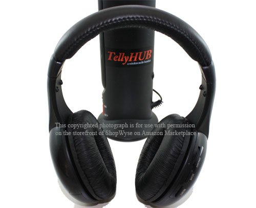 New Tellyhub Wireless Audio Headset - An Excellent Device For Wirelessly Watching Your Tv Program, Listening To The Radio Or Enjoying Music Remotely From Your Playback Gadgets; Includes A $15 Worth Stereo Adapter For Working With Your Smart Phone, And Mor