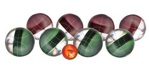 Halex Platinum Bocce Set (113mm Clear Resin Balls)