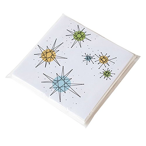 Sputnik Retro Atomic Starburst 50's Style Paper Napkins-Pack of 20
