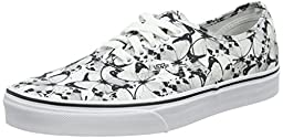 Vans Unisex Authentic (Butterfly) True White/Bl Skate Shoe 6 Men US / 7.5 Women US