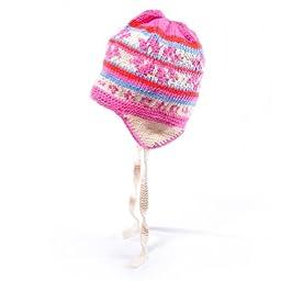 ChunkiChilli Unisex-Baby\'s Organic Cotton Radiant Earflap Hat 6-18 Months Pink