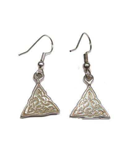 Sterling Silver Celtic Triquetra Earrings