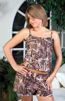 Hatchie Bottom Camouflage Camisole Top