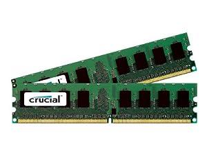 Crucial 4GB kit (2GBx2) DDR2 1066MHz (PC2-8500) CL7 Unbuffered UDIMM Desktop Memory CT2KIT25664AA1067 / CT2CP25664AA1067
