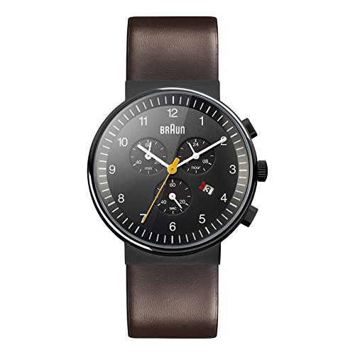 Braun Men's BN0035BKBRG Classic Chronograph Analog Display Japanese Quartz Brown Watch (Braun Quartz Watch compare prices)