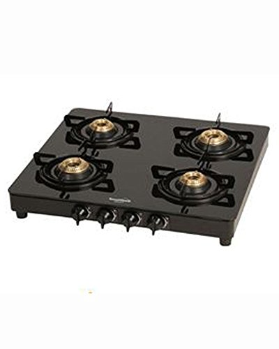 Crystal Toughened Glass Gas Cooktop (4 Burner)