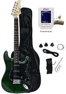 crescent eg gb 39 electric guitar starter package greenburst color musical. Black Bedroom Furniture Sets. Home Design Ideas