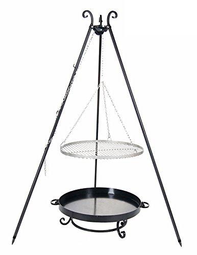 Schwenkgrill mit Dreibein, Rost 50 cm aus Rohstahl, Feuerschale #32 60 cm bestellen