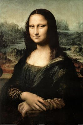 Leonardo Da Vinci Mona Lisa Art Print Poster - 11X17 Custom Fit With Richandframous Black 11 Inch Poster Hangers front-229214