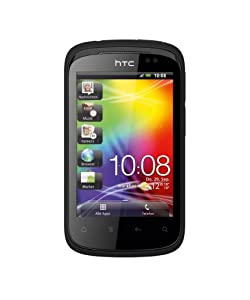 HTC Explorer Smartphone (8,1 cm (3,2 Zoll) Display, Touchscreen, 3,15 Megapixel Kamera, Android 2.3 OS) smart schwarz