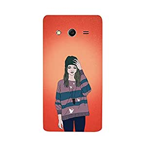 Digi Fashion Designer Back Cover with direct 3D sublimation printing for Samsung Galaxy Core 2