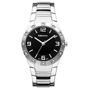 RODANIA 25034-46 29mm Silver Steel Bracelet & Case Mineral Women's Watch