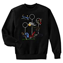 Quidditch Game Harry Potter Fan Art Crewneck Sweatshirt, Medium