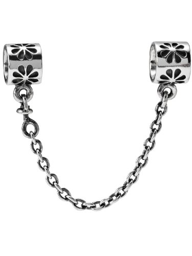 Pandora 790385 Silver Safety Chain Flower